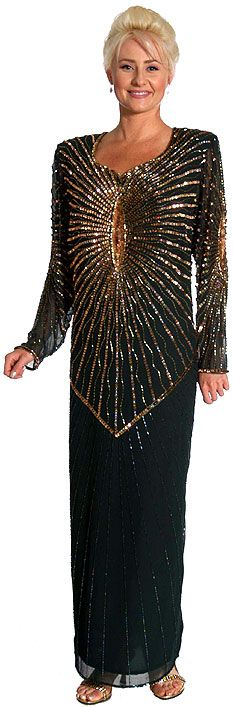 Full Length Handbeaded Formal Dress